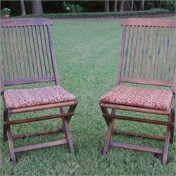 Blazing Needles Standard Folding Lawn Chair Cushions (Set of 2)