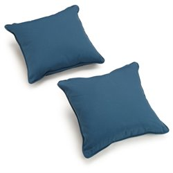 Blazing Needles 18-inch Solid Twill Throw Pillow (Set of 2)