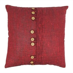 Blazing Needles 20 inch Throw Pillow in Burgundy