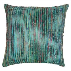 Blazing Needles Throw Pillow in Teal