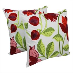 Blazing Needles 20 inch Elegant Throw Pillow in Multicolor