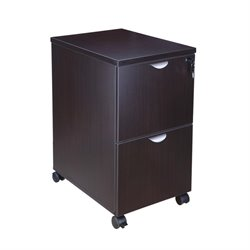 2 Drawer Mobile File Cabinet in Mocha