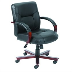 Mid Back Executive Leather Office Chair