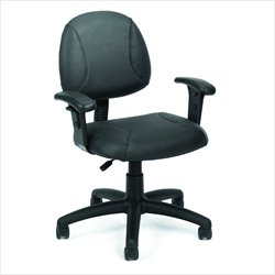 Boss Office Products Deluxe Posture Chair with Adjustable Arms