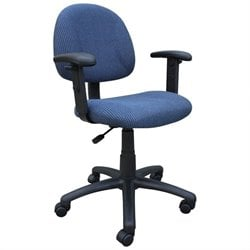 DX Posture Chair with Adjustable Arms in Blue