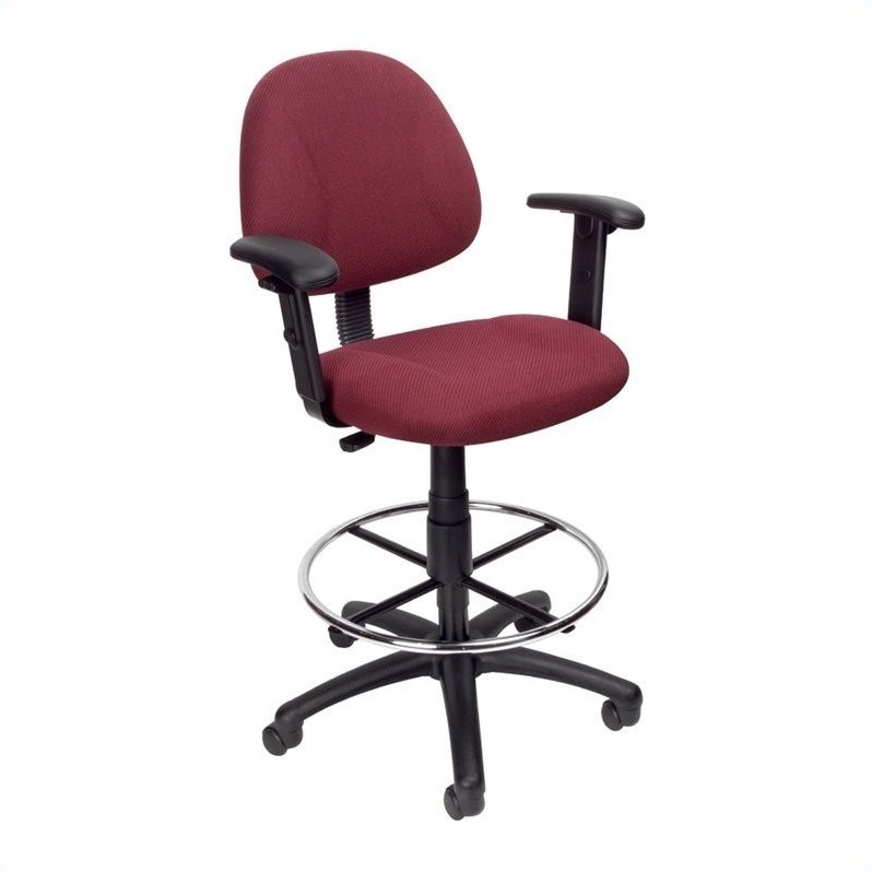 Contoured Fabric Drafting Chair