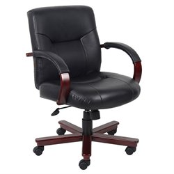 High Back Executive Leather Office Chair with Knee Tilt