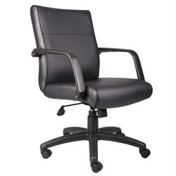 Mid Back Executive Chair in Leather Plus