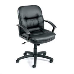 Executive Mid-Back Leather Chair with Knee Tilt