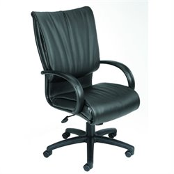 High-Back Black Leather Plus Chair