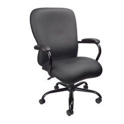 Big & Tall Chair in Black Plus Fabric (350 lb capacity)