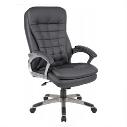 Executive High Back Pillow Top Office Chair in Black