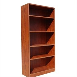 Boss Office Products Bookcase in Cherry