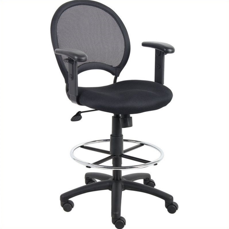 Mesh Drafting Chair with Adjustable Arms