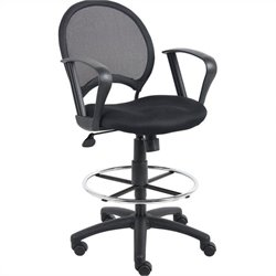 Mesh Drafting Chair with Loop Arms