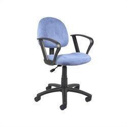 Microfiber Deluxe Posture Office Chair with Loop Arms in Blue