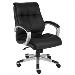 Double Plush Mid Back Executive Chair in Black