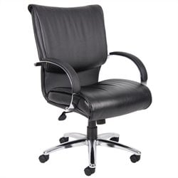 Mid Back Leatherplus Executive Chair in Black
