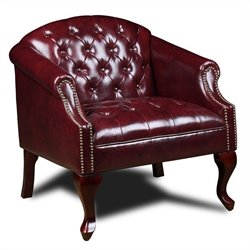 Tufted Club Chair in Red