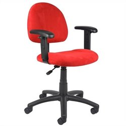 Microfiber Deluxe Posture Chair in Red