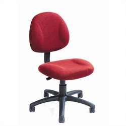 Adjustable DX Fabric Posture Chair in Burgundy