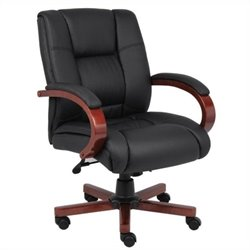 Mid Back Executive Office Chair in Cherry