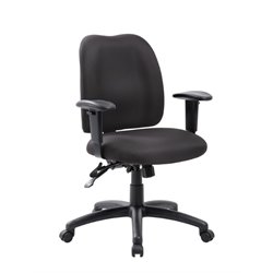 Multi-Function Task Office Chair in Black