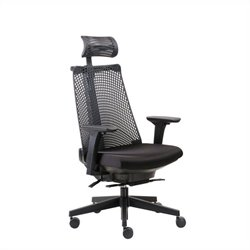 Boss Office Contemporary Executive Office Chair in Black with Headrest