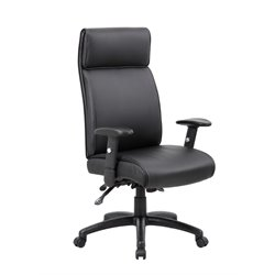 Multi-Function Executive High Back Office Chair in Black