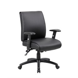 Multi-Function Mid Back Executive Office Chair in Black