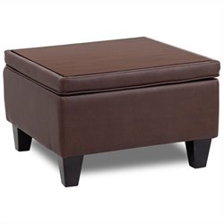Reception Sectional Ottoman in Brown