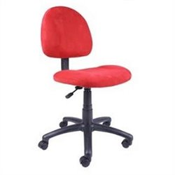 Fabric Deluxe Posture Chair in Red