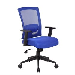 Mesh Back Task Chair in Blue