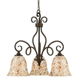 Quoizel Monterey Mosaic Dinette Chandelier with 3 Lights in Malaga