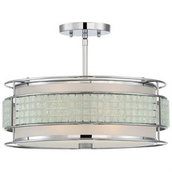 Quoizel Boundary Large Semi Flush Mount in Polished Chrome