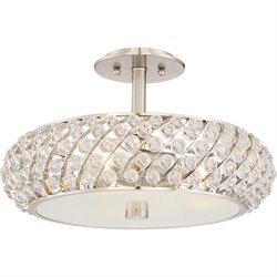 Quoizel Platinum Legion Large Semi Flush Mount in Brushed Nickel