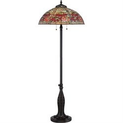 Quoizel Red Maple Floor Lamp in Valiant Bronze