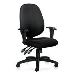 Multifunction Office Chair with Arms in Black