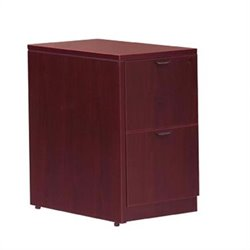2 Drawer Vertical Wood File Pedestal with Lock