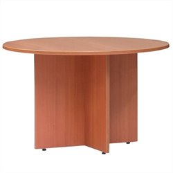 Round 4' Conference Table with X-Shaped Base