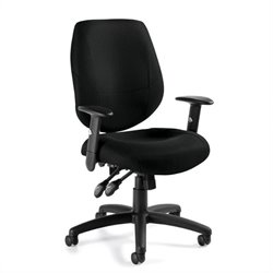 Adjustable Ergonomic Office Chair in Black