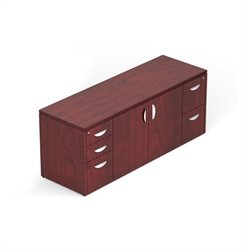 298 Cabinet with Locking Pedestals in Cordovan