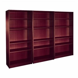 4 Shelf Wall Bookcase in American Mahogany