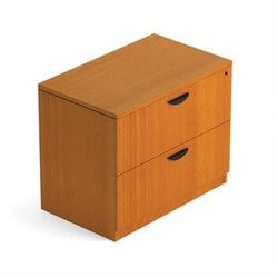 2 Drawer Lateral Wood File with Lock in American Cherry