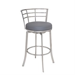 Armen Living Viper Stool in Gray
