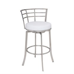 Armen Living Viper Stool in White