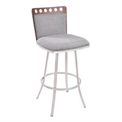 Armen Living Coco Stool in Gray