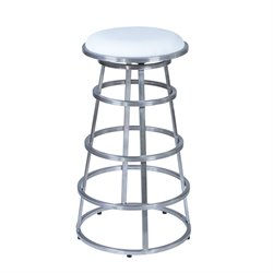 Armen Living Ringo Stool in White