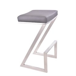 Armen Living Atlantis Stool in Gray