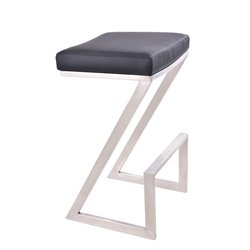 Armen Living Atlantis Stool in Black